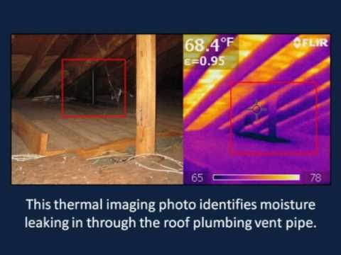 Atlanta Home Inspector Finds Roof Leak  Mold with Thermal