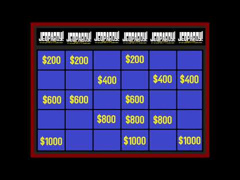 Video Game Jeopardy! Fill In board for Jeopardy! Round(Beta) - YouTube