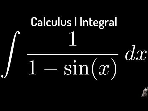 Indefinite Integral of 1/(1-sin(x))