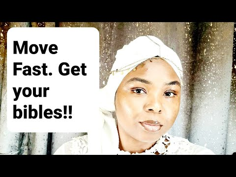 URGENTLY GET A COPY OF THE BIBLE IN YOUR HOME. MOVE FAST AND QUICKLY!! **MUST WATCH/SHARE**