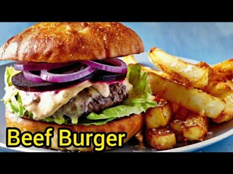 Beef Burger With Mushroom Sauce Burger Patty Recipe Beef Burger Recipe Mushroom Sauce Recipe Youtube