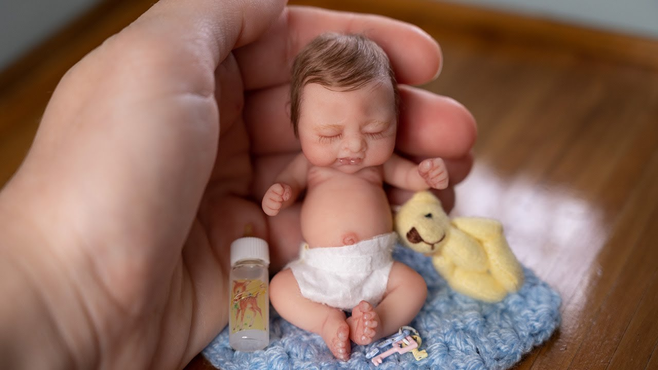 Playtime for the SMALLEST Miniature Baby, Silicone Reborn Boy Lil' Bean
