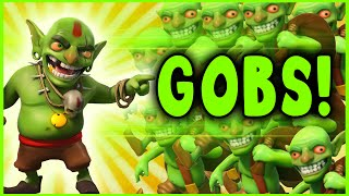 Clash of Clans - 225 GOBLINS ONLY ATTACK! - Crazy Raids (#1)