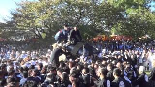 2015年 松山秋祭り 新小栗vs長町 1本目(石手川緑地)
