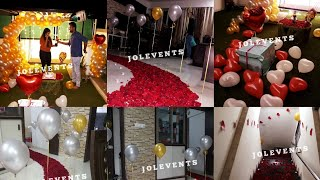How To Surprise Wife On Birthday   Romantic Room Decoration   Jol Events