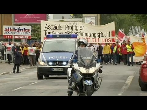 Grève à la poste allemande en solidarité avec les futurs employés