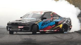 800hp/1000Nm BMW E39 M5 Single Turbo V8 Tires Slayer by Geos Drift Team!