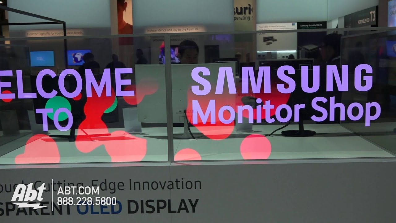 Samsung Transparent OLED Display Abt CES YouTube - Abt samsung
