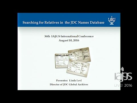 Searching for Relatives in the Joint Distribution Committee Names Database