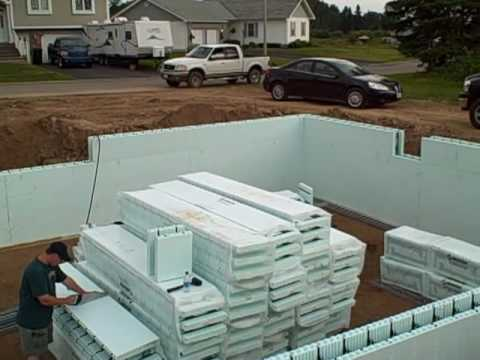 Concrete Icf Building Block System Pt3 Youtube