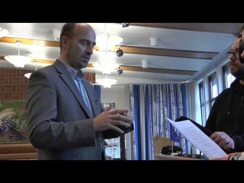 Interview with Professor Richard Werner at Motala Convention Center