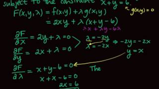 Section 7.4 Lagrange Multipliers and Constrained Optimization