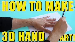 How To Make 3D HAND ART! | EASY ART