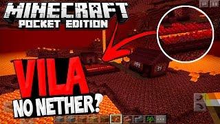 VILA DO NETHER E FAKE?? #SQN | Novidades Minecraft Pocket Edition