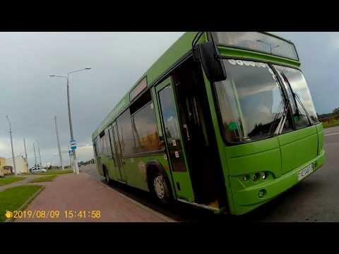 Витебск.Поездка на автобусе №17 Медцентр - Речной порт