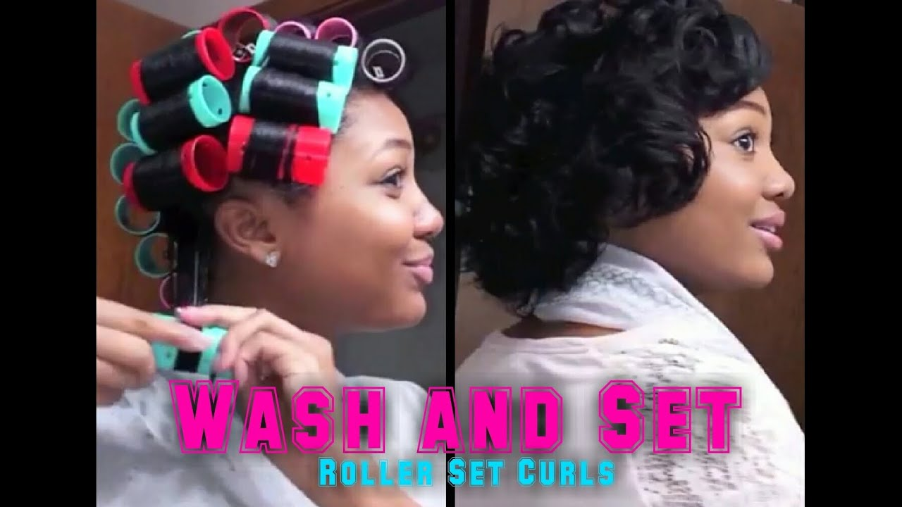 how to set my hair style updated roller set hair tutorial wash amp set your hair 7187