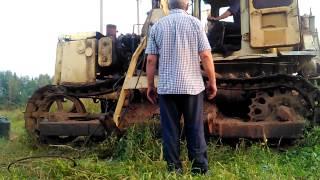 Бульдозер Т-170 После кап ремонта двигателя(Часть 1)