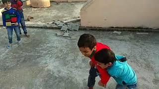 Fight between little children