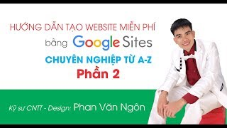 Video tutorial to create website by google site P.2