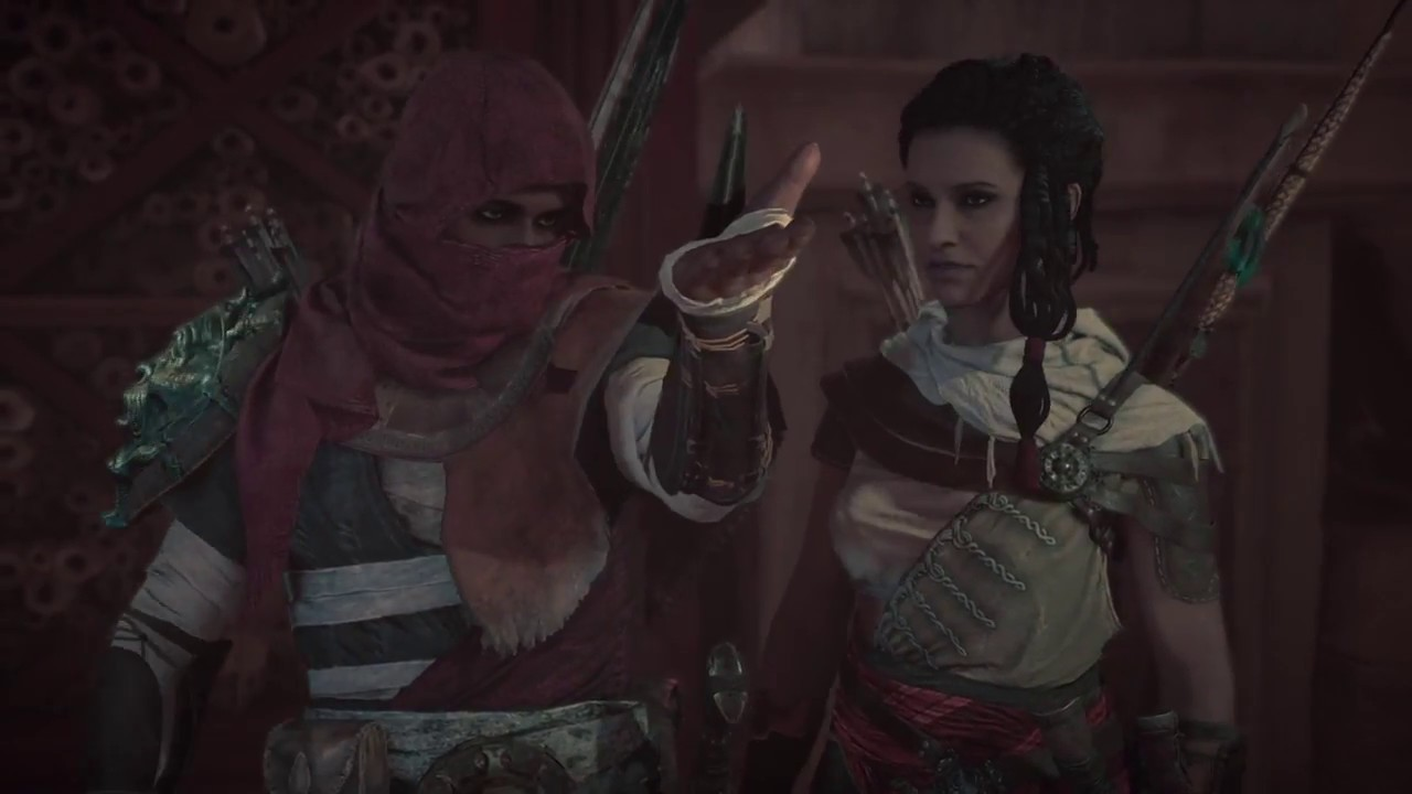 Assassin S Creed Origins Bayek Meets His Wife Getting The Hidden