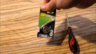how to change the battery from audi remote fob key a1 a3 a4 a6 q5 q7