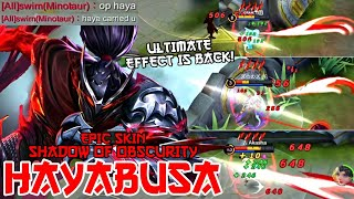 THEY FINALLY FIXED HAYABUSA'S ULTIMATE EFFECTS... TIME TO SPAM IT IN RANK!! | MOBILE LEGENDS