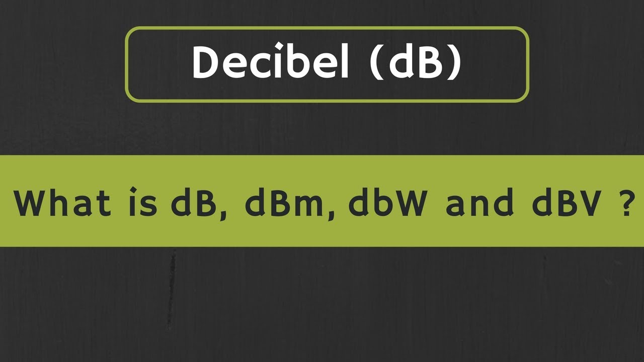 decibels db to