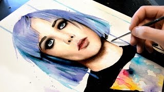 Alice Glass【WATERCOLOR PORTRAIT】
