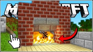 Minecraft: How to build a Secret Fireplace Entrance