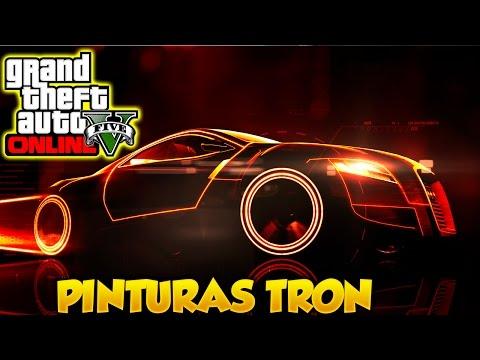GTA 5 Online Pinturas Extrañas y Raras TRON #10 Combinaciones de Colores Grand Theft Auto V Online
