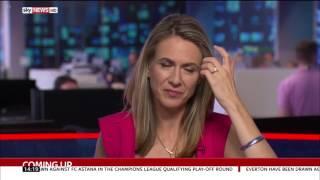 Sky News sport presenter tease fail - 4.8.2017