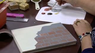 Pintura com imitação de tijolinho – Mara Fernandes – PT1