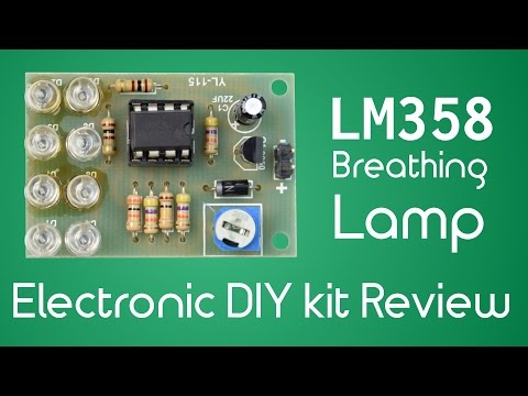 $0.79 LM358 Breathing Lamp Electronics DIY Kit - Assembly and Review
