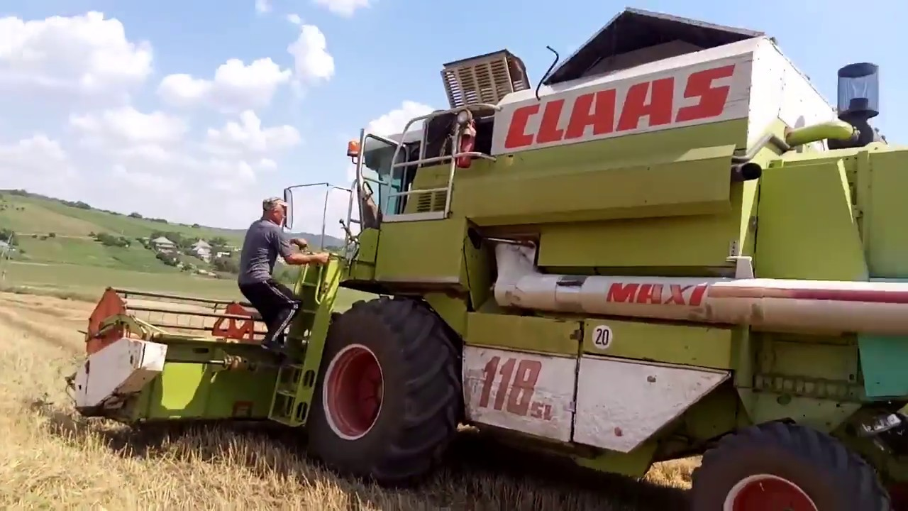 ремонт кондиционера комбайн claas commander. - YouTube