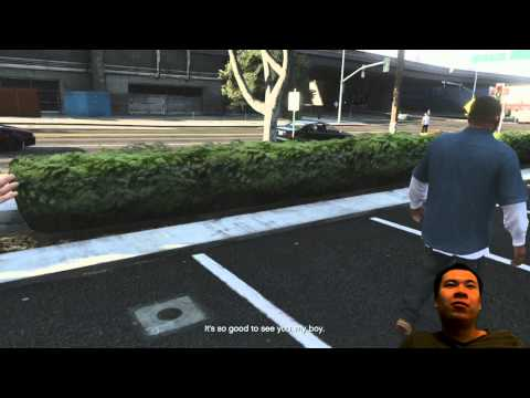 GTA V - Franklin's first mission 6 of 6 headshots