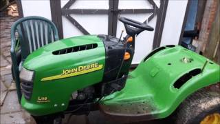 John Deere L118 Hood Repair