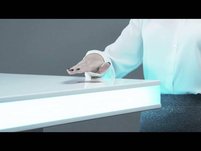 TableAir höhenverstellbarer Steh- und Schreibtisch, dark walnut ...