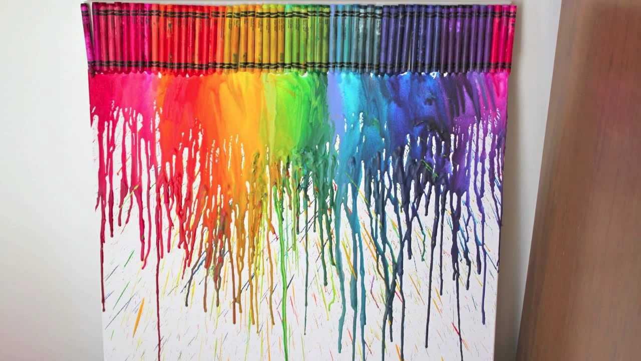 3d Wallpaper Decorating Ideas Diy Cuadro Con Crayolas Derretidas Decora Tu Habitaci 243 N