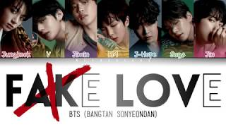BTS (방탄소년단) - FAKE LOVE (Color Coded Lyrics/Han/Rom/Eng)