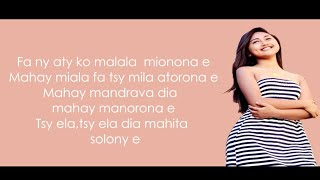 ♫Lyrics♫ Johane Mionona clip 2018 ♪ Nouveauté Malagasy