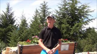 Jared Dutoit on the Columbia Valley Golf Trail, in British Columbia, Canada