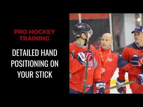 PRO HOCKEY TRAINING: Detailed Hand Positioning On Stick