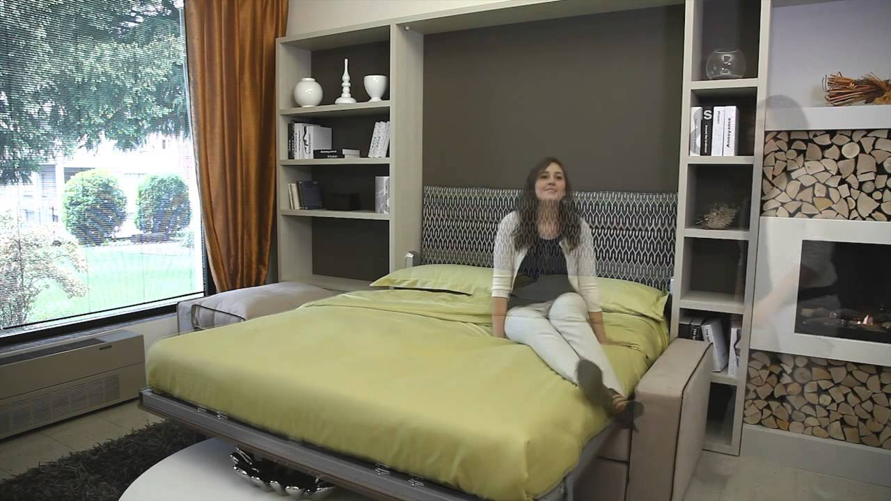 murphy bed in small living room furniture packages with tv milano smart presents wall collection 2014 ...