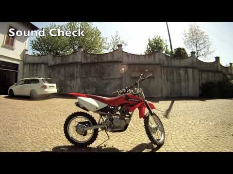 Riding a Honda Crf100 with the GoPro HD