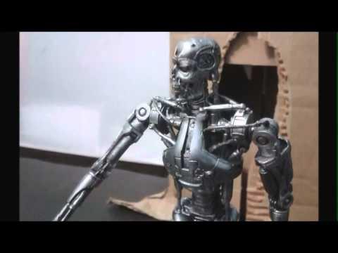 T 1000 Terminator Terminator T 1000 VS T800 Stop motion - YouTube