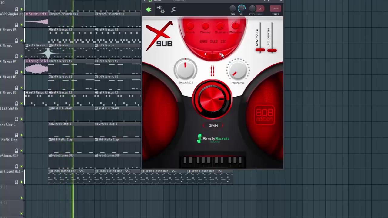 Xsub FREE 808 VST Plug-in Instrument | HEXLOOPS