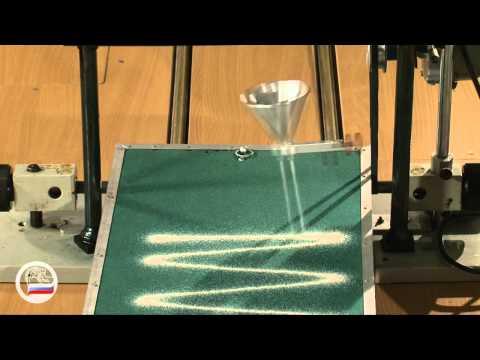 Математический маятник - запись колебаний песком.