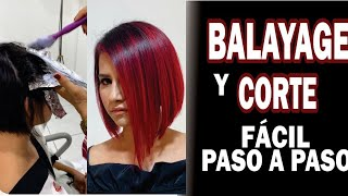 BALAYAGE ROJO FACIL PASO A PASO.RED BALAYAGE EASY STEP BY STEP