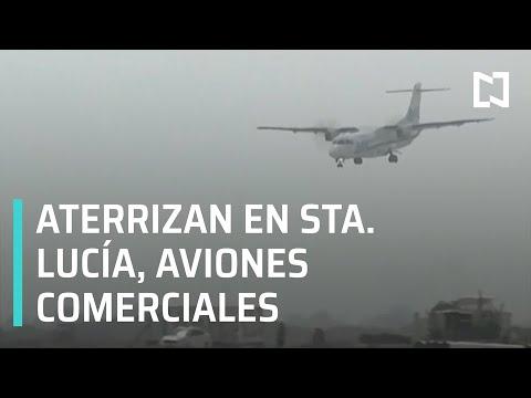 Aterrizan primeros aviones comerciales en Aeropuerto Felipe Ángeles en Santa Lucía- Las Noticias