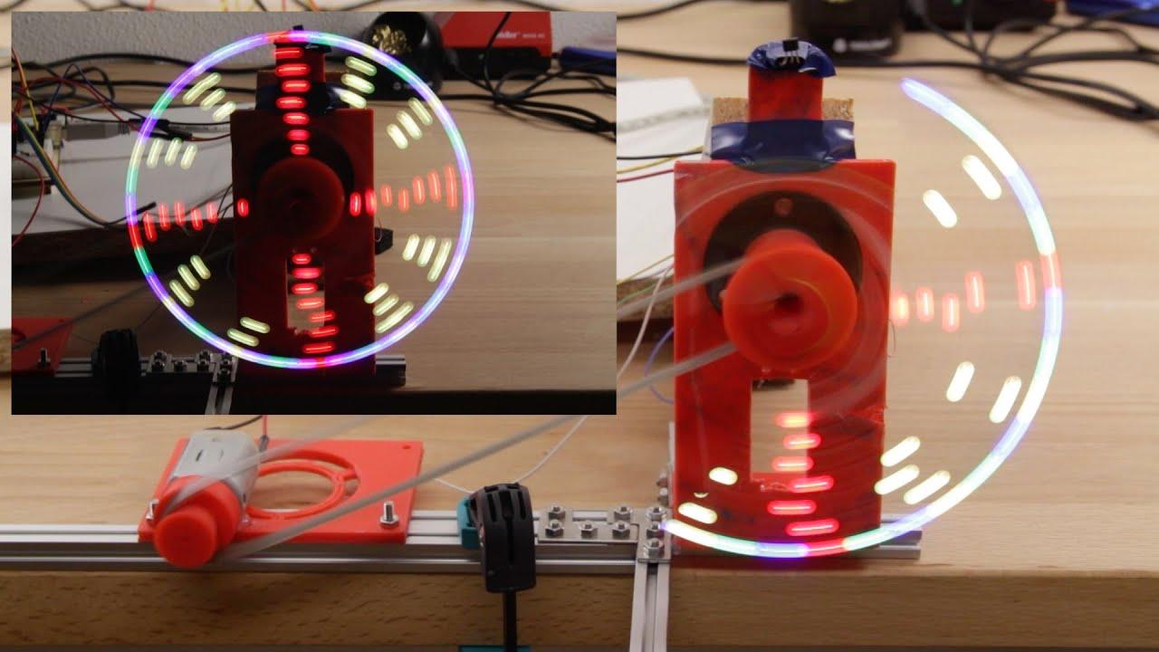 Arduino projekt rotationsdisplay mit neopixel leds youtube